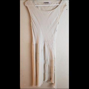 Jil Sander Ivory Pleated Shift Cocktail Dress